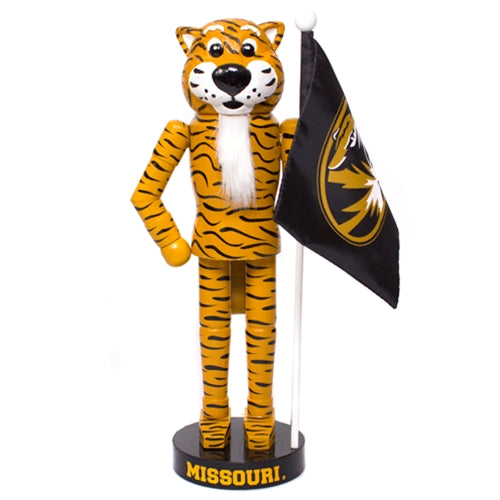 Mizzou Truman Nutcracker with Flag