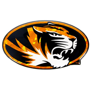 Mizzou Oval Tiger Head Reflective Auto Emblem