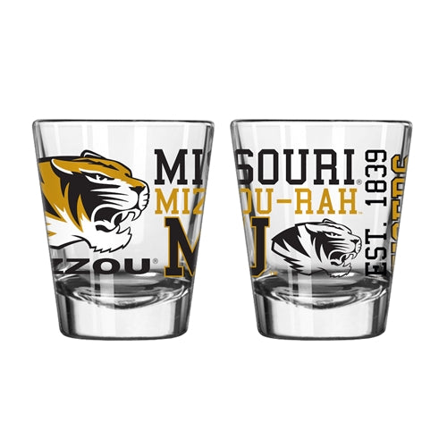 Mizzou Black & Gold Spirit Shot Glass