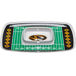 Mizzou Oval Tiger Head Football Field Chip and Dip Tray