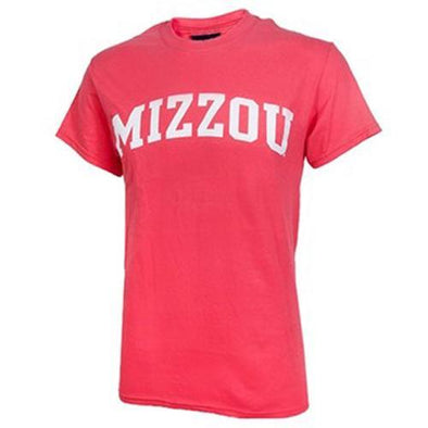 Mizzou Short Sleeve Coral Crew Neck T-Shirt