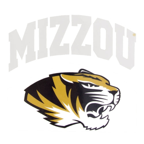 Mizzou Arched Tiger Head Decal