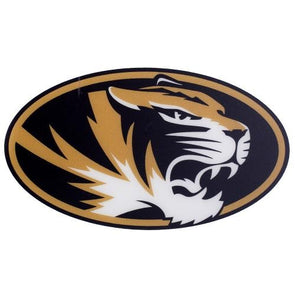 Mizzou Oval Tiger Head Decal
