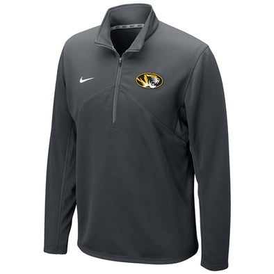 Mizzou Nike® Oval Tiger Head Charcoal 1/4 Zip Sweatshirt