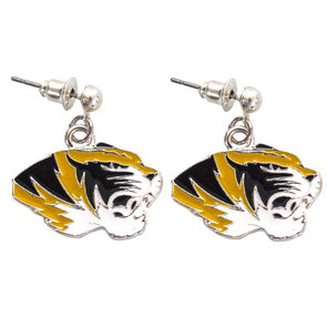 Mizzou Tiger Head Enamel Earrings