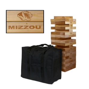 Mizzou Giant Wooden Tumbler Tower Game