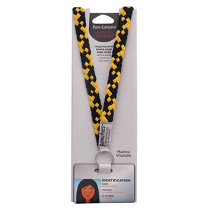 Mizzou Black and Gold Lanyard