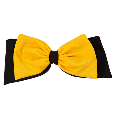 Mizzou Pomchie Black and Gold Clip Hair Bow
