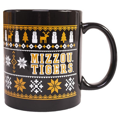 Mizzou Ugly Sweater Mizzou Tigers Black Ceramic Mug