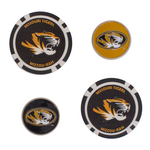 Mizzou Golf Ball Marker Set 4 Piece