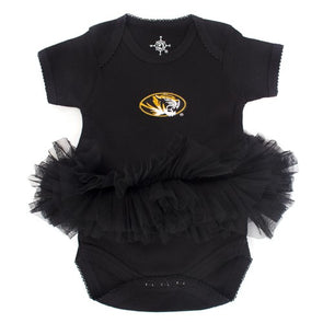 Mizzou Infant Oval Tiger Head Tutu Onesie