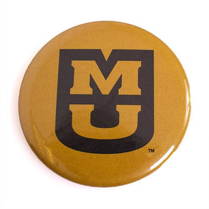 MU Black & Gold Button Magnet