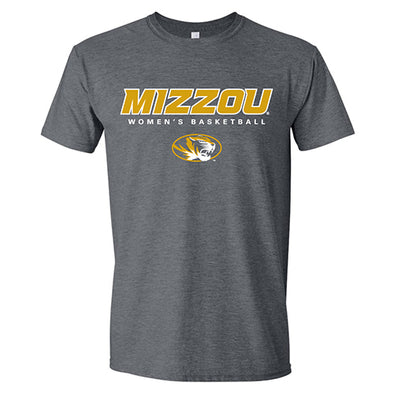 Mizzou Women's Basketball Charcoal Short Sleeve T-Shirt