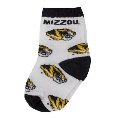 Mizzou Infant All Over Print Socks