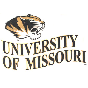 University of Missouri Tiger Head Wave Decal