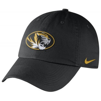 Mizzou Nike® 2017 Oval Tiger Head Black Adjustable Hat