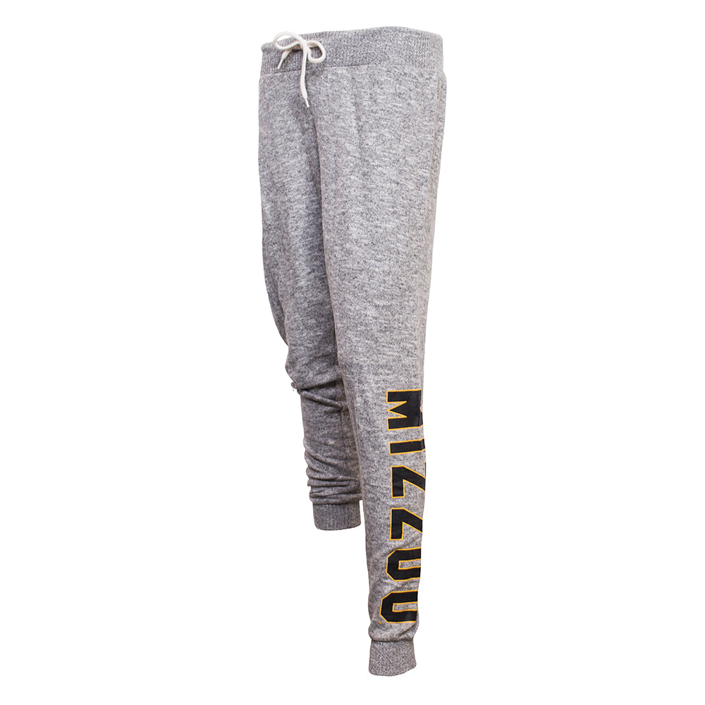 Mizzou Juniors' Cozy Fleece Grey Jogger Pant