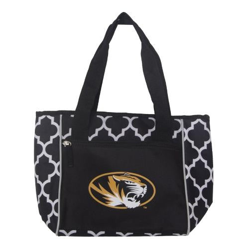 Mizzou Oval Tiger Head Black & White Cooler Tote Bag