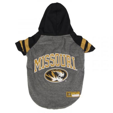 Missouri Oval Tiger Head Dog Hoodie