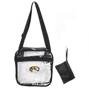8feecd64d6c7 Mizzou Oval Tiger Head Clear Crossbody SEC Compliant Carryall Tote with  Zipper