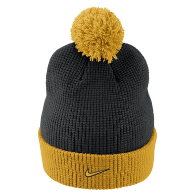 Mizzou Nike® 2017 Black and Gold Waffle Cuff Beanie with Removable Pom
