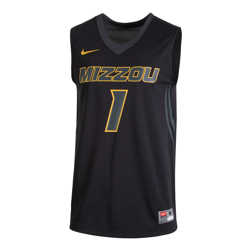 9aa237c7134 Mizzou Nike® 2017 Black  1 Replica Basketball Jersey – Tiger Team Store