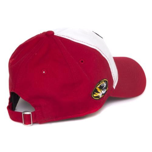 Mizzou MLB Cardinals on Bat Red and White Adjustable Cap