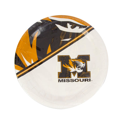 "Missouri M Tiger Head 7"" Paper Plates"