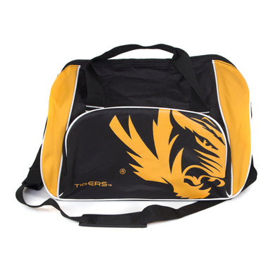 Mizzou Tiger Head Locker Room Black and Gold Duffle Bag