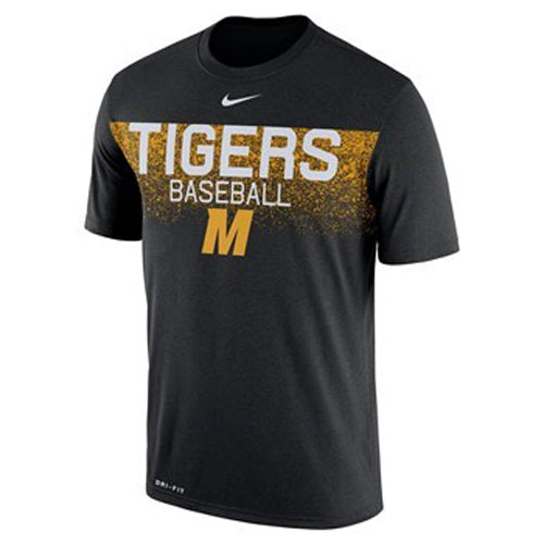 Mizzou Nike® 2018 Black Dri-Fit Baseball M Team Issue T-Shirt