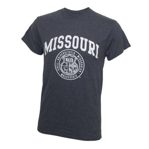 Missouri Official Seal Charcoal Crew Neck T-Shirt