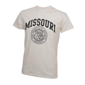 Missouri Official Seal Cream Crew Neck T-Shirt