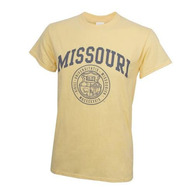 Missouri Official Seal Yellow Crew Neck T-Shirt