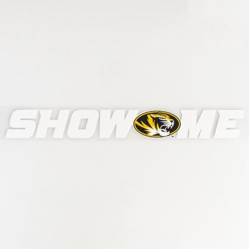 Mizzou Decal Oval Tiger Head Show Me