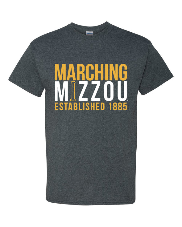 Marching Mizzou Grey Short Sleeve T-Shirt