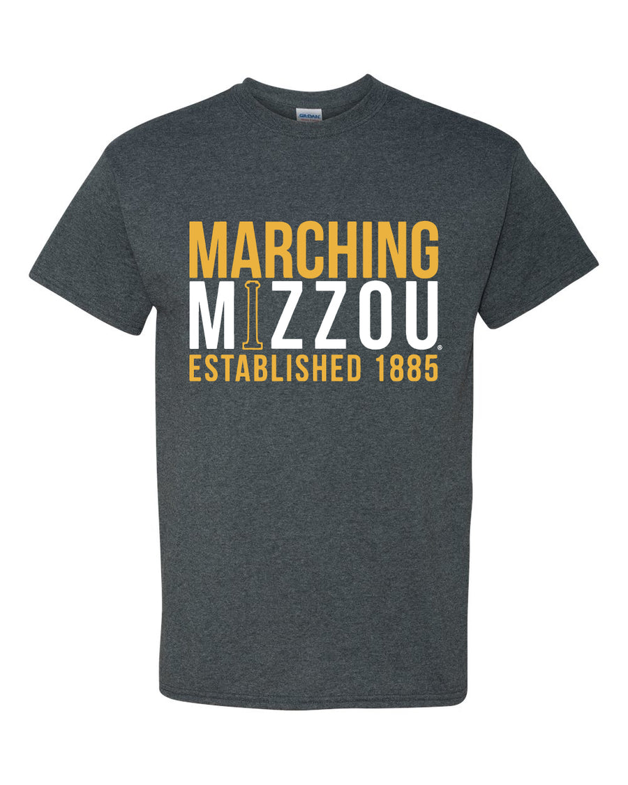 Marching Mizzou Grey Short Sleeve T Shirt Tiger Team Store Pants Black