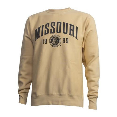 Missouri Official Seal Yellow Crew Neck Sweatshirt