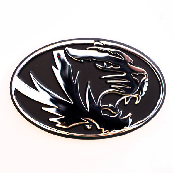 Mizzou Oval Tiger Head Chrome Auto Emblem