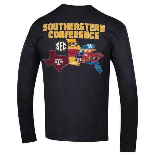 Mizzou SEC All Teams Black Long Sleeve T-Shirt
