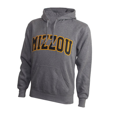 Mizzou Satin 2 Color Grey Hoodie