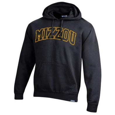 Mizzou Satin 2 Color Black Hoodie
