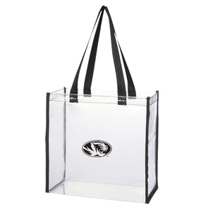 Mizzou Game Day Clear Oval Tiger Head Stadium Tote