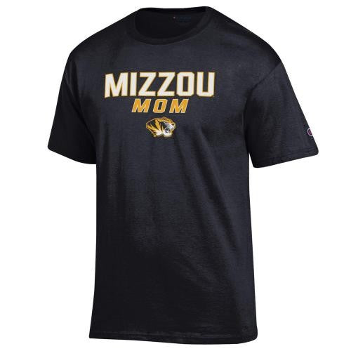 Mizzou Mom Black Crew Neck T-Shirt