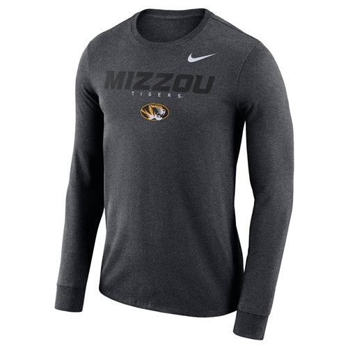 Mizzou Nike® 2018 Oval Tiger Head Charcoal Athletic Shirt