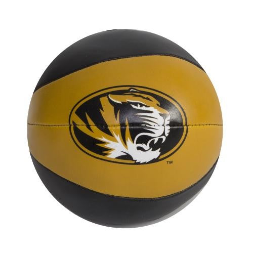 "Mizzou Basketball Mini Softee 4"" Black and Gold Basketball"