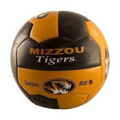 Mizzou Tigers Black & Gold Full Size Soccer Ball