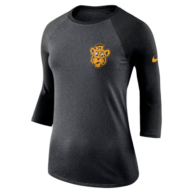 Mizzou Nike® 2018 Juniors' Black 3/4 Sleeve Shirt