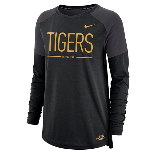 Mizzou Tigers Nike® 2018 Juniors' Black Crew Neck Shirt