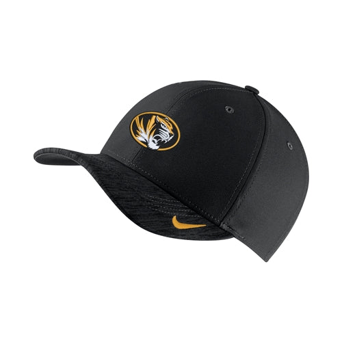 74a744cd98c Mizzou Nike® 2018 Oval Tiger Head Black Adjustable Hat ...