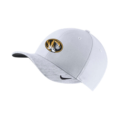 Mizzou Nike® 2018 Oval Tiger Head White Adjustable Hat